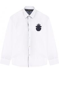 Хлопковая рубашка с вышивкой Billionaire