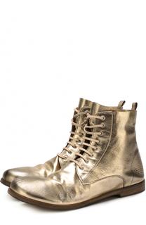 Ботинки из металлизированной кожи Marsell