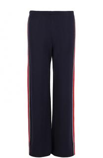 Расклешенные брюки с контрастными лампасами Pietro Brunelli