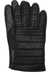 Утепленные кожаные перчатки Canada Goose