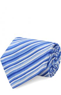 Шелковый галстук в полоску Kiton