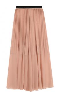 Плиссированная юбка-макси с контрастным эластичным поясом By Malene Birger