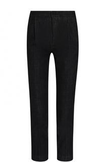 Укороченные однотонные джинсы с защипами Marni