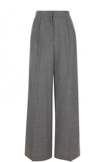 Однотонные шерстяные брюки со стрелками Elizabeth and James