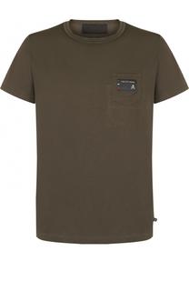 Хлопковая футболка с круглым вырезом Philipp Plein