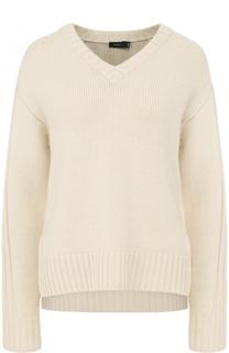 Кашемировый пуловер с V-образным вырезом Joseph