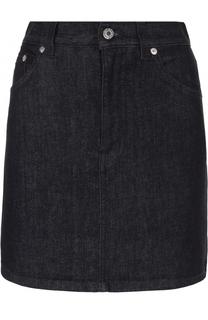 Джинсовая мини-юбка с логотипом бренда Givenchy