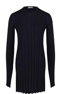 Удлиненный шерстяной пуловер фактурной вязки MRZ