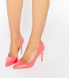 Розовые туфли‑лодочки для широкой стопы с вырезом Faith Cliff - Розовый