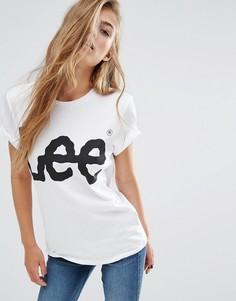 Футболка бойфренда с логотипом Lee - Белый
