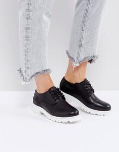 Кожаные туфли на высоком каблуке H by Hudson - Черный