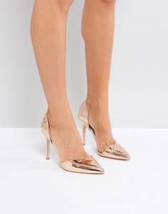 Остроносые туфли на высоком каблуке Miss KG Christy - Медный
