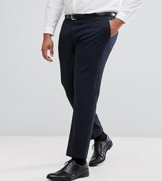 Однотонные эластичные брюки узкого кроя Harry Brown PLUS - Темно-синий