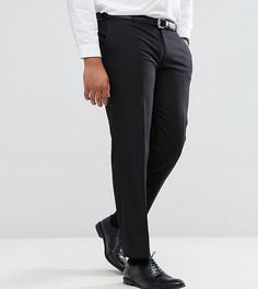 Однотонные черные узкие брюки Harry Brown PLUS - Черный