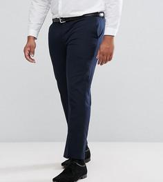 Однотонные черные узкие брюки Harry Brown PLUS - Темно-синий