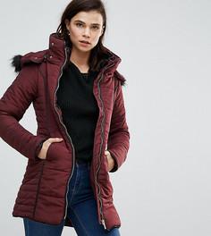 Приталенное пальто с молнией Brave Soul Tall - Красный