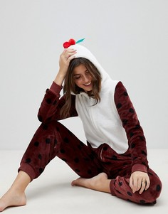Комбинезон Рождественский пудинг с 3D-отделкой Loungeable - Коричневый