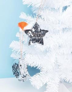 Украшение для новогодней елки в виде полумесяца и звезды Meri Meri - Мульти