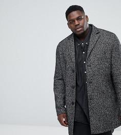 Фактурное пальто Stanley Adams PLUS - Черный