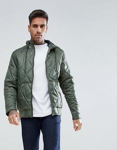 Стеганая куртка с капюшоном Ringspun - Серый