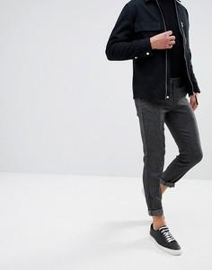 Строгие брюки скинни в крапинку Selected Homme - Черный