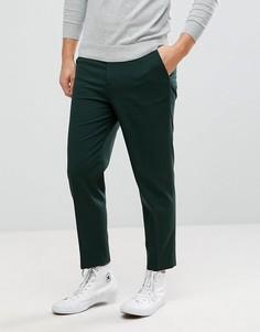 Зеленые зауженные брюки ASOS - Зеленый