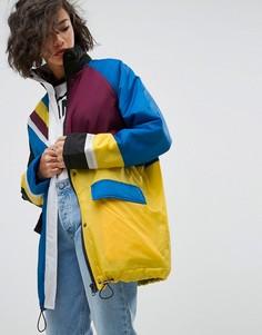 Дутая куртка в стиле колор блок ASOS - Мульти