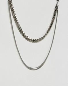 Двухъярусное ожерелье Gogo Philip - Серебряный