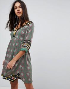 Платье-туника с принтом Raga Elena - Зеленый