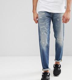 Суженные книзу джинсы с рваной отделкой Selected Homme TALL - Синий