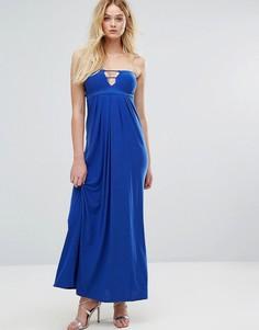 Платье-бандо макси с вырезами City Goddess - Синий