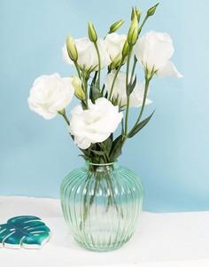 Ребристая круглая стеклянная ваза Sass & Belle - Мульти