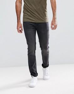 Выбеленные черные джинсы скинни Hoxton Denim - Черный