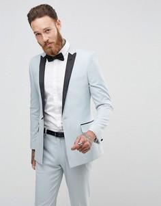Синий приталенный пиджак ASOS Wedding - Синий