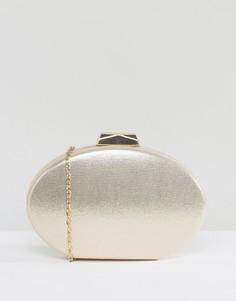 Золотистый блестящий клатч овальной формы Claudia Canova - Золотой