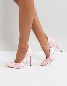 Туфли на высоком каблуке с острым носом London Rebel - Розовый