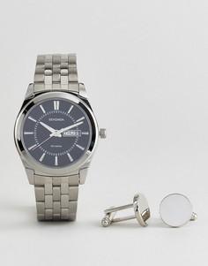 Серебристые запонки и наручные часы Sekonda 3479.78 - Серебряный