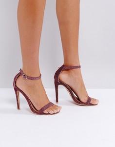 Розовые сандалии с отделкой блестками Lost Ink - Розовый
