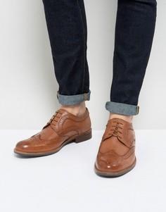 Светло-коричневые кожаные броги Silver Street - Рыжий