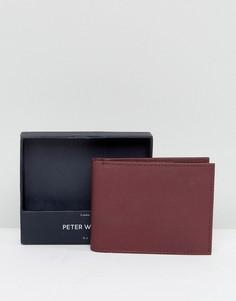 Бордовый бумажник Peter Werth - Красный