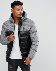 Черная дутая куртка 11 Degrees - Черный