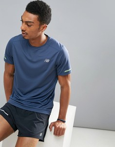 Темно-синяя футболка New Balance Running Impact MT63223VTI - Темно-синий