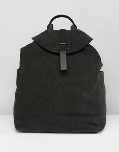 Рюкзак цвета хаки из парусины с кожаной отделкой Paul Costelloe - Зеленый