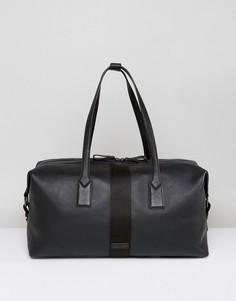 Черная кожаная спортивная сумка Paul Costelloe - Черный