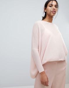 Свободный кашемировый джемпер Subtle Luxury - Розовый
