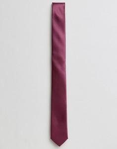 Однотонный галстук сливового цвета Devils Advocate - Красный