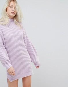 Платье-джемпер с воротником поло Miss Selfridge - Фиолетовый