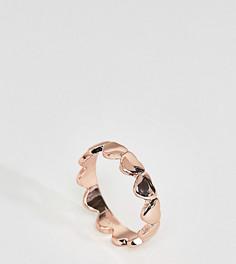 Кольцо с сердцем ASOS CURVE - Медный