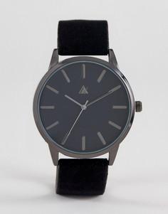 Часы с черным бархатным ремешком ASOS Party - Черный