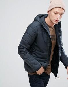 Черная дутая куртка с капюшоном Fjallraven Keb - Черный